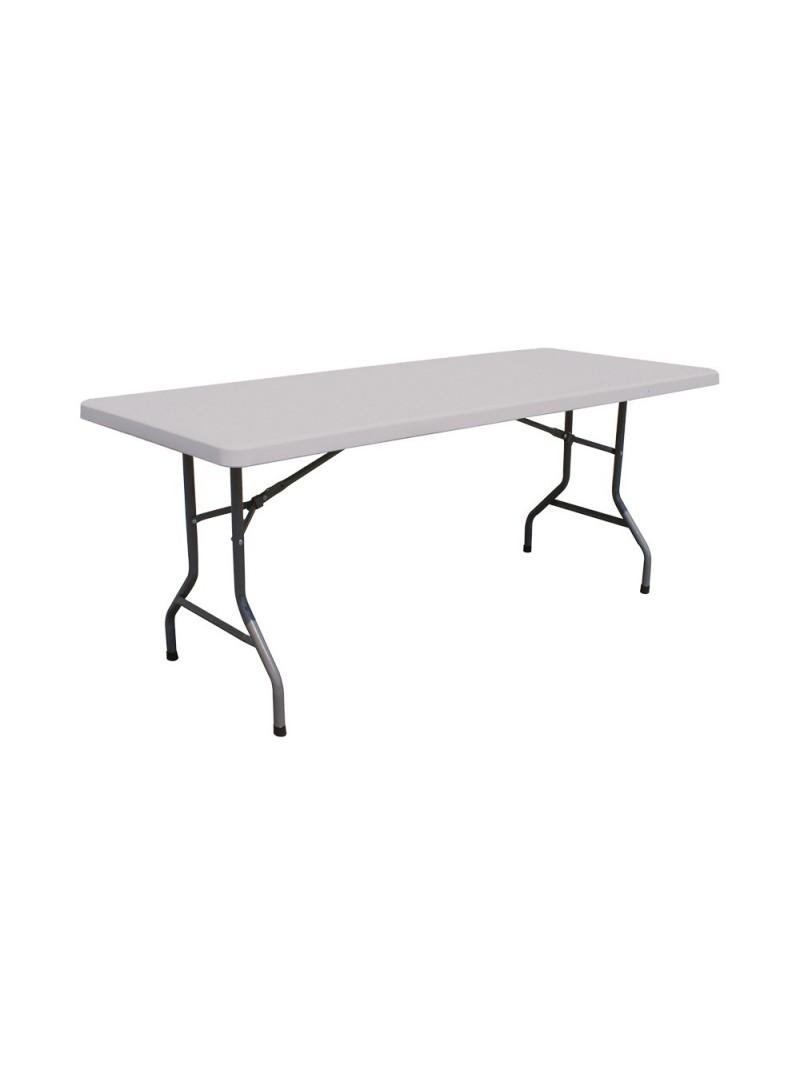 Atd Live Location Table Pliante Rectangulaire 6 Personnes 180 X 80
